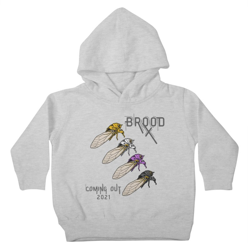 Non-Binary Cicadas Kids Toddler Pullover Hoody by avian30