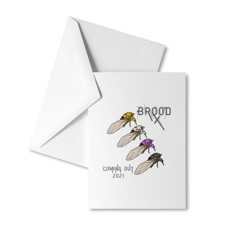 Non-Binary Cicadas Accessories Greeting Card by avian30