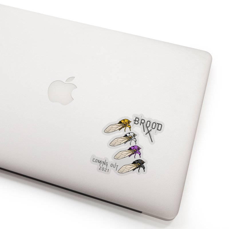 Non-Binary Cicadas Accessories Sticker by avian30