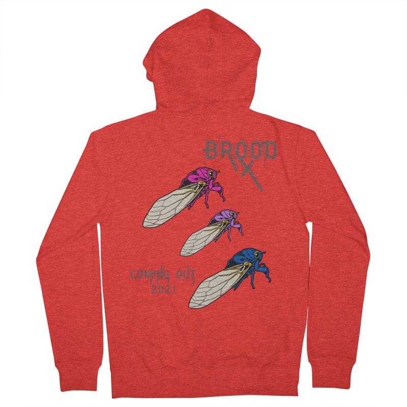 Bisexual Cicadas Men's Zip-Up Hoody by avian30