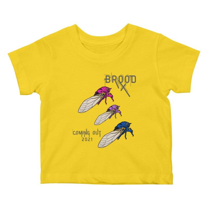 Bisexual Cicadas Kids Baby T-Shirt by avian30