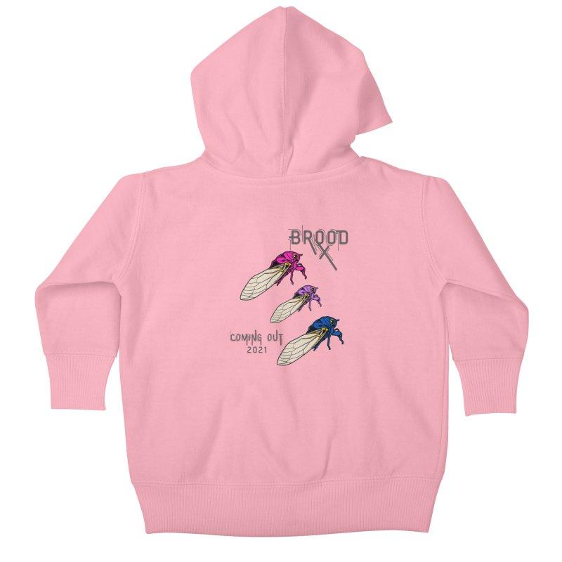 Bisexual Cicadas Kids Baby Zip-Up Hoody by avian30
