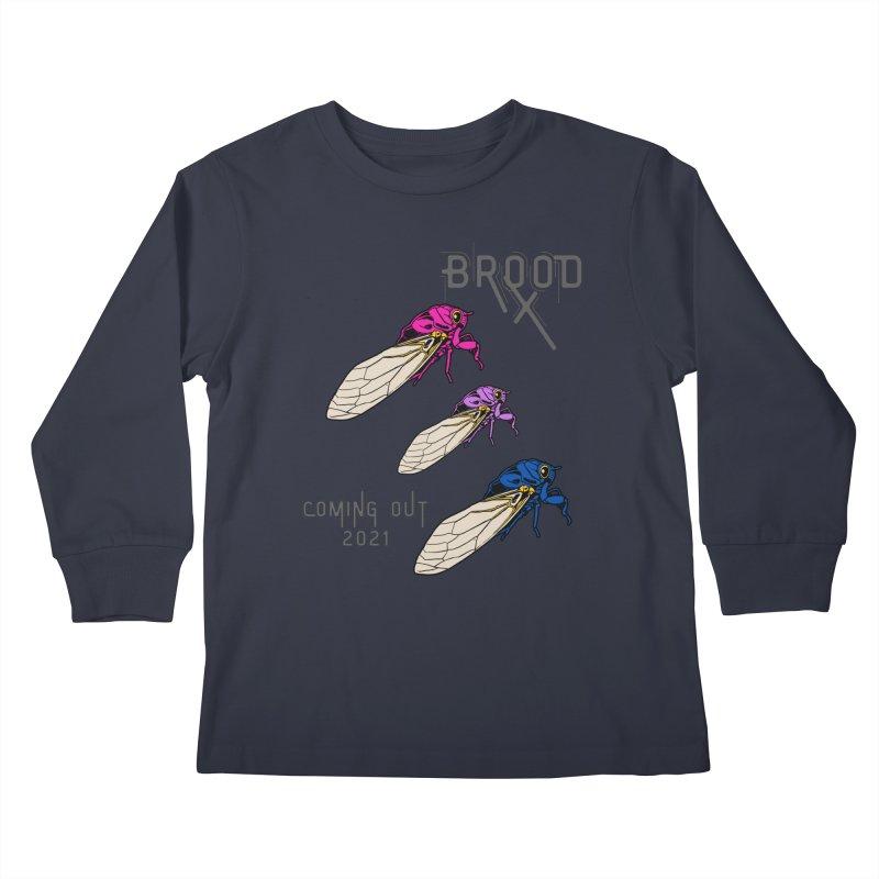 Bisexual Cicadas Kids Longsleeve T-Shirt by avian30