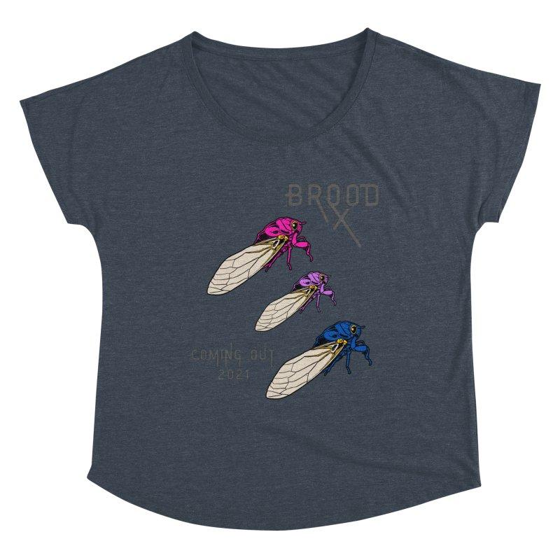 Bisexual Cicadas Women's Scoop Neck by avian30