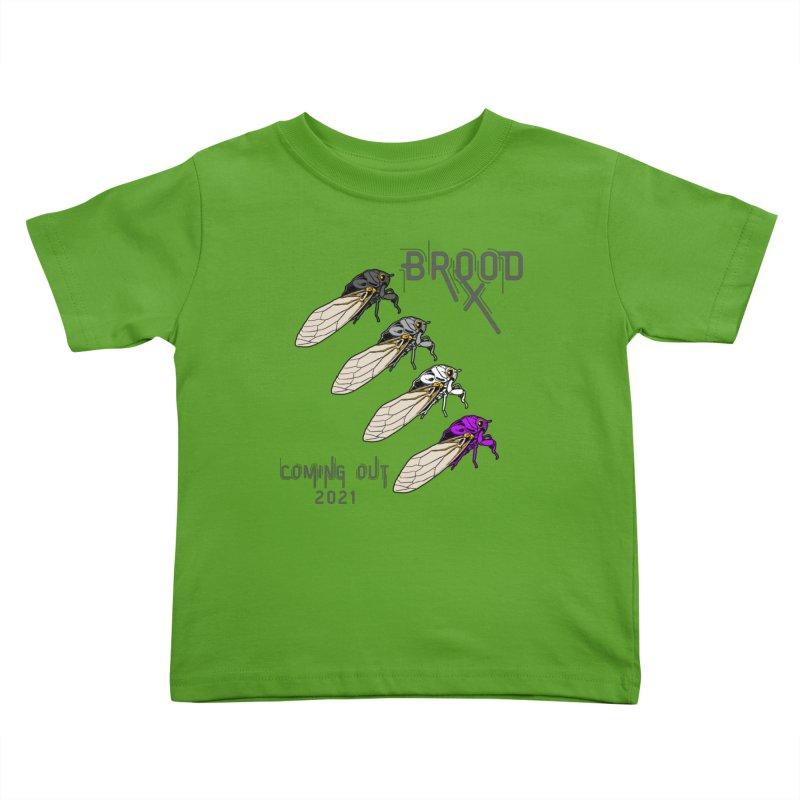 Asexual Cicadas Kids Toddler T-Shirt by avian30
