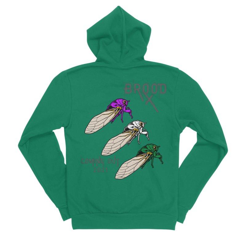 Genderqueer Cicadas Women's Zip-Up Hoody by avian30