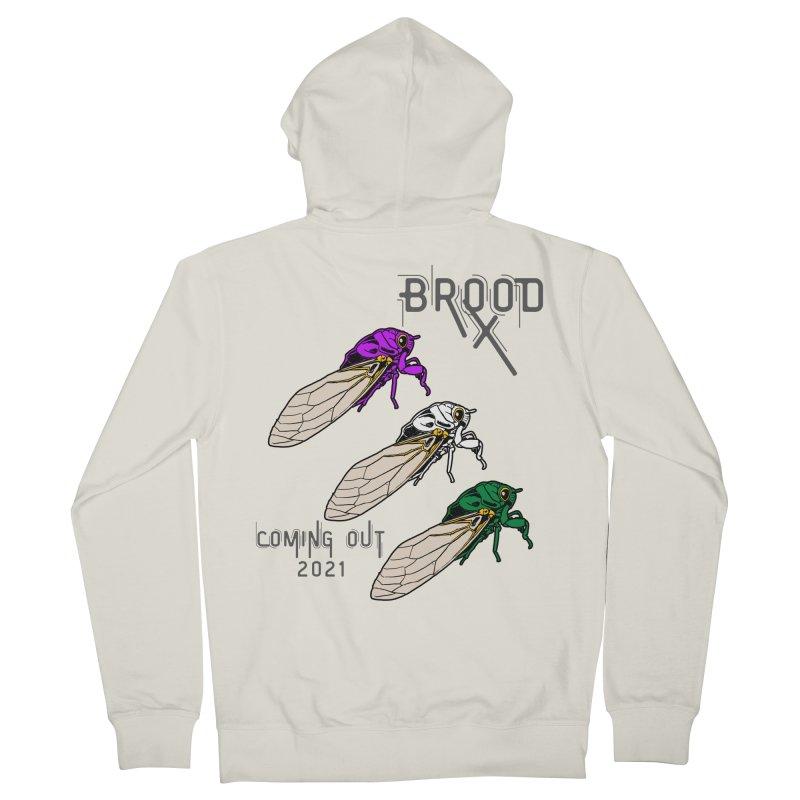 Genderqueer Cicadas Men's Zip-Up Hoody by avian30