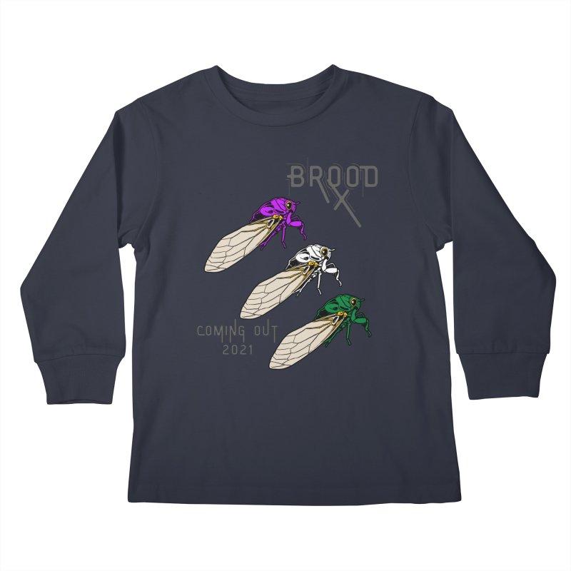 Genderqueer Cicadas Kids Longsleeve T-Shirt by avian30
