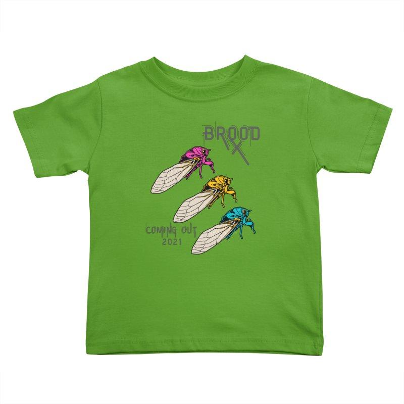 Pansexual Cicadas Kids Toddler T-Shirt by avian30