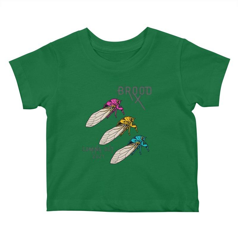 Pansexual Cicadas Kids Baby T-Shirt by avian30