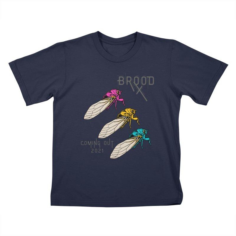 Pansexual Cicadas Kids T-Shirt by avian30