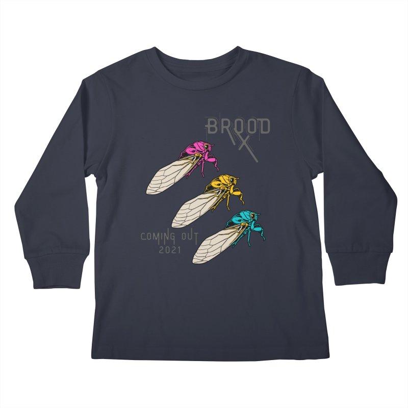 Pansexual Cicadas Kids Longsleeve T-Shirt by avian30