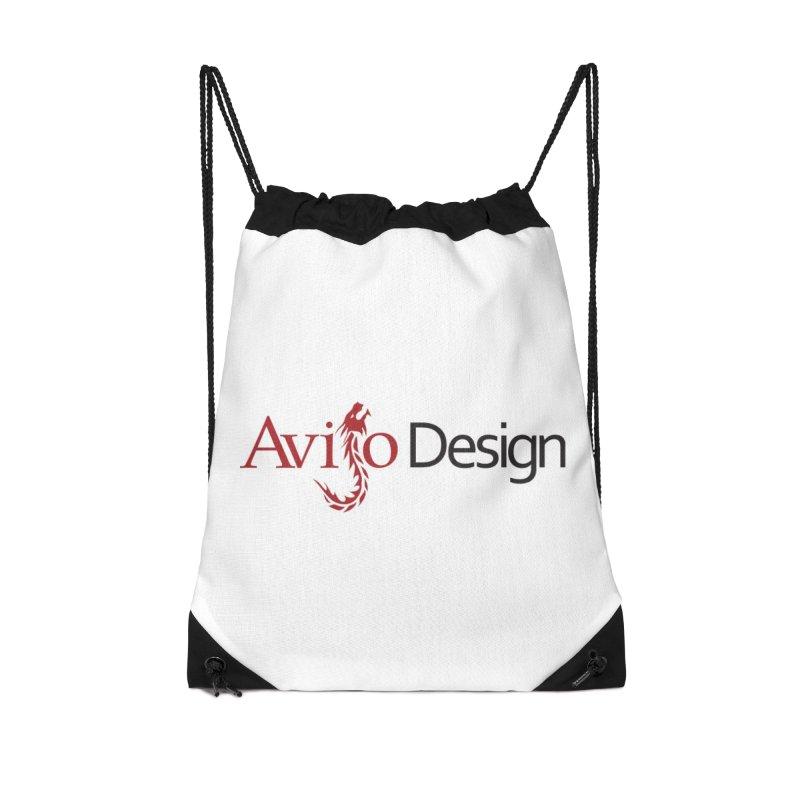 Avijo Design Logo Accessories Drawstring Bag Bag by AvijoDesign's Artist Shop