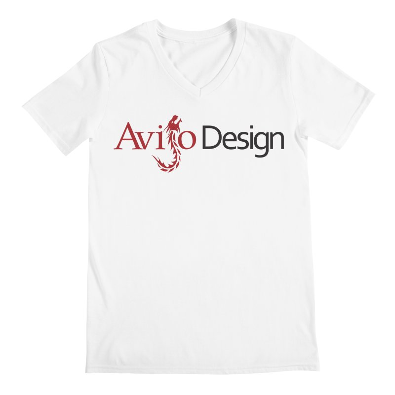 Avijo Design Logo Men's V-Neck by AvijoDesign's Artist Shop