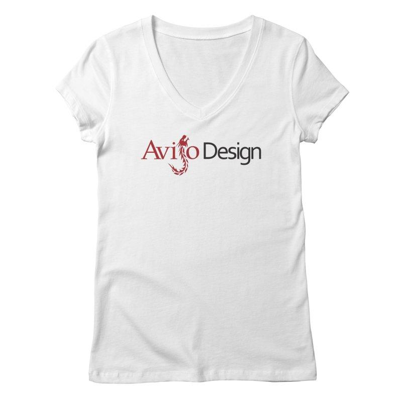 Avijo Design Logo Women's V-Neck by AvijoDesign's Artist Shop
