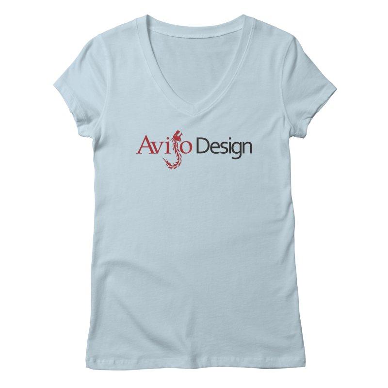 Avijo Design Logo Women's Regular V-Neck by AvijoDesign's Artist Shop