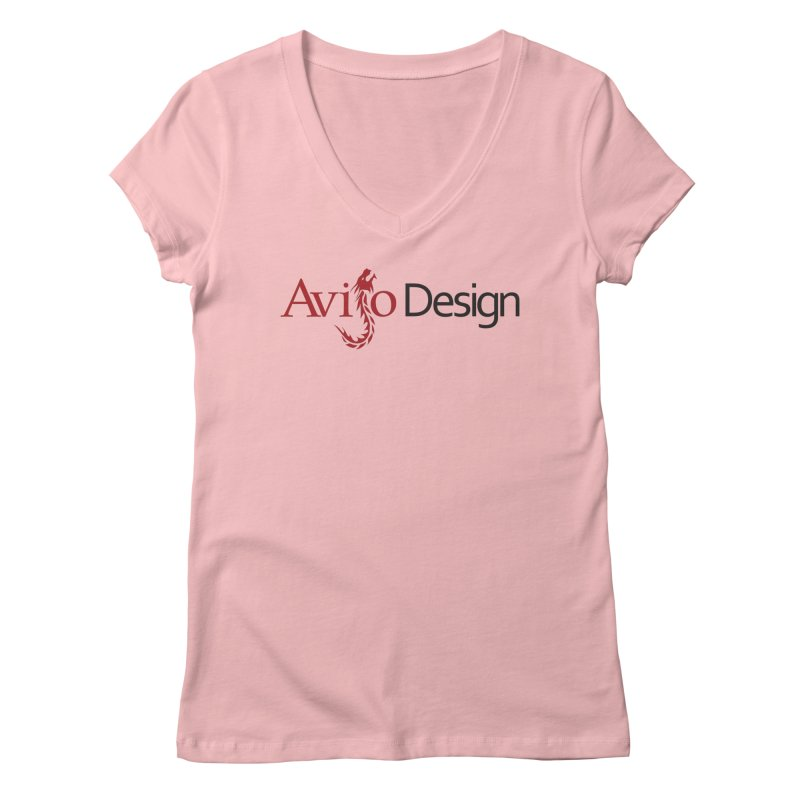 Avijo Design Logo Women's Regular V-Neck by AvijoDesign's Artist Shop