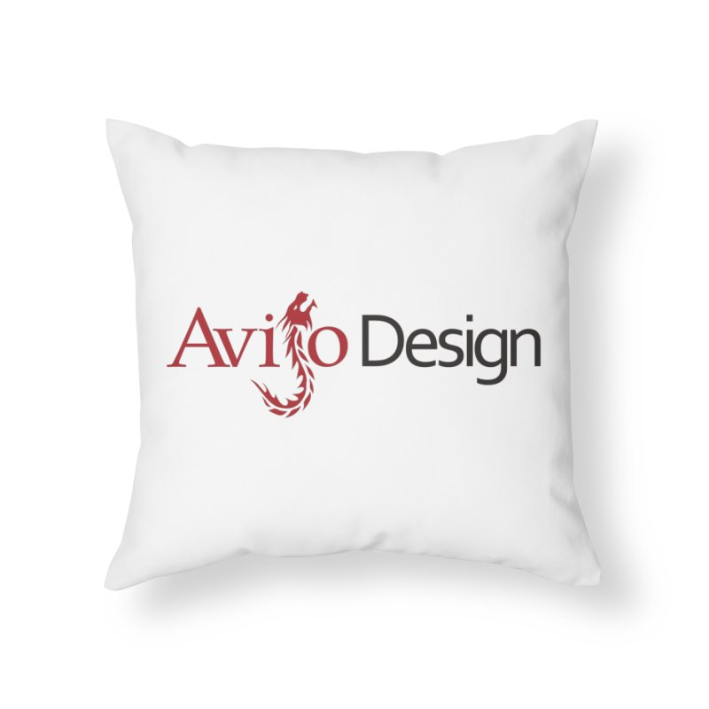 Avijo Design Logo Home Throw Pillow by AvijoDesign's Artist Shop
