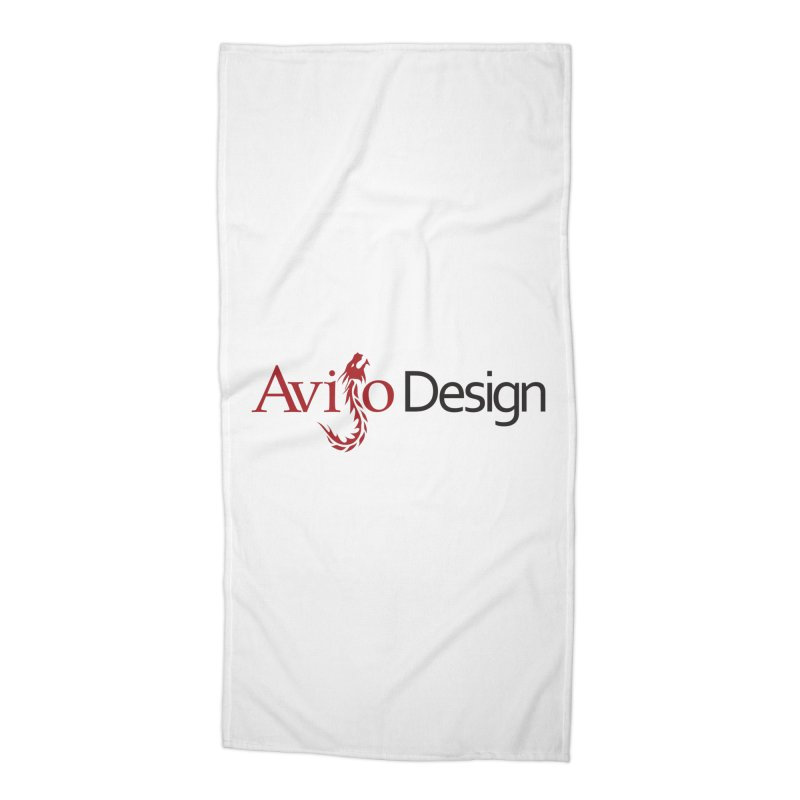 Avijo Design Logo Accessories Beach Towel by AvijoDesign's Artist Shop
