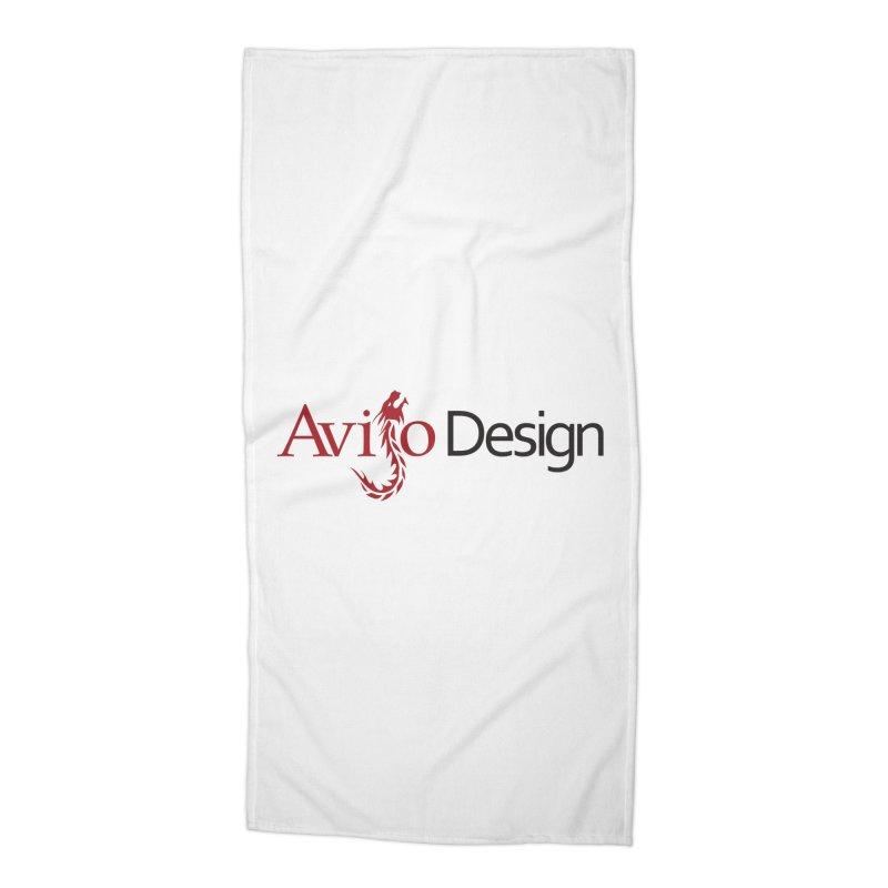 Avijo Design Logo Accessories Beach Towel by AvijoDesign's Artist Shop