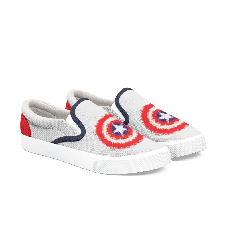 Captain Men's Slip-On Shoes by AvijoDesign's Artist Shop