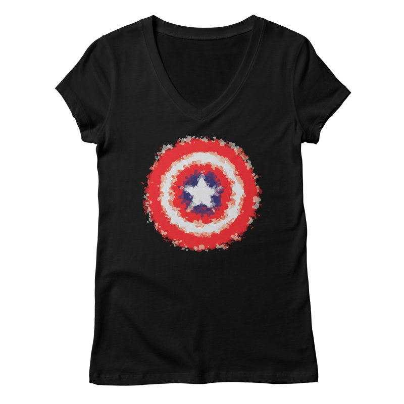 Captain Women's V-Neck by AvijoDesign's Artist Shop