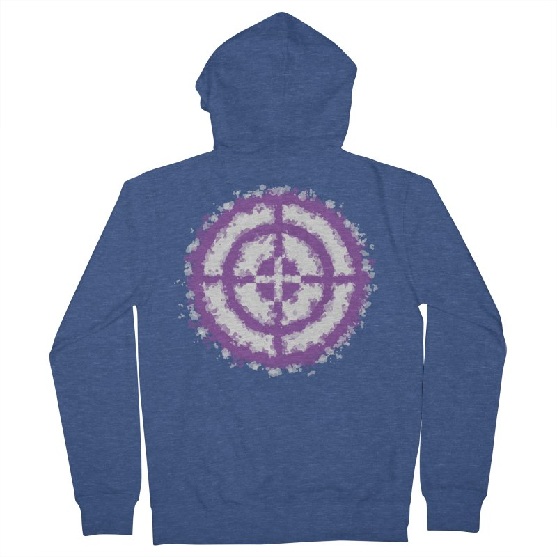 Hawkeye Men's French Terry Zip-Up Hoody by AvijoDesign's Artist Shop