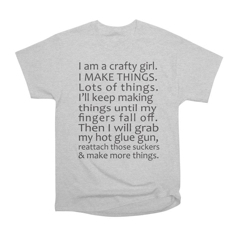 Crafty Girl Women's Heavyweight Unisex T-Shirt by AvijoDesign's Artist Shop