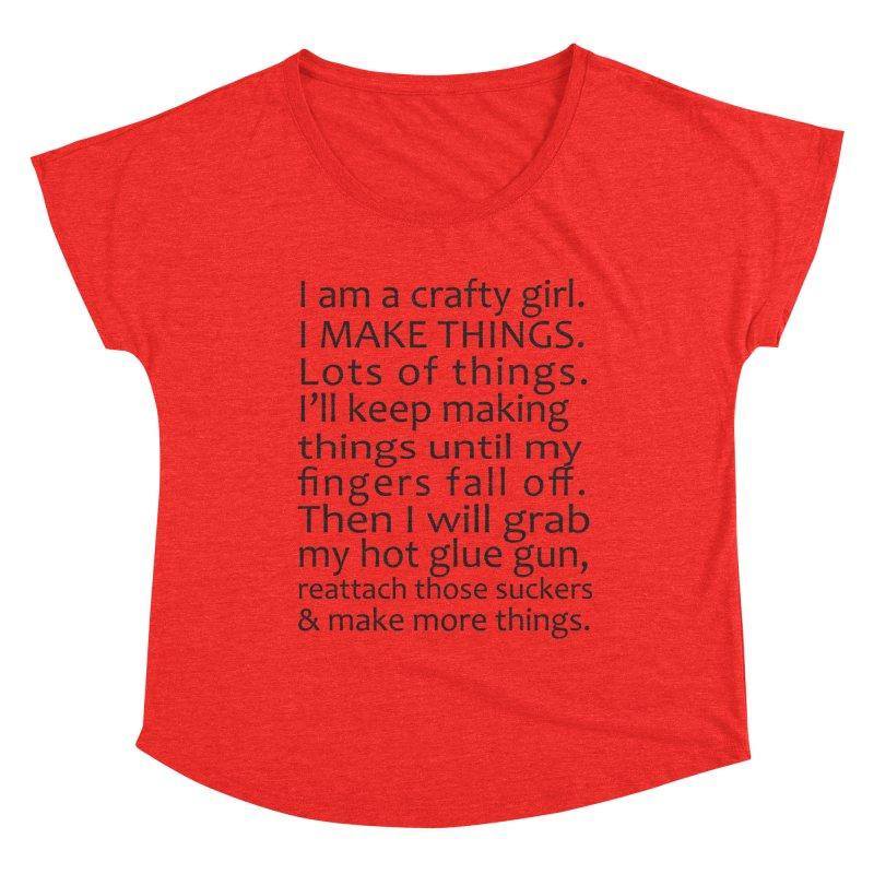 Crafty Girl Women's Scoop Neck by AvijoDesign's Artist Shop