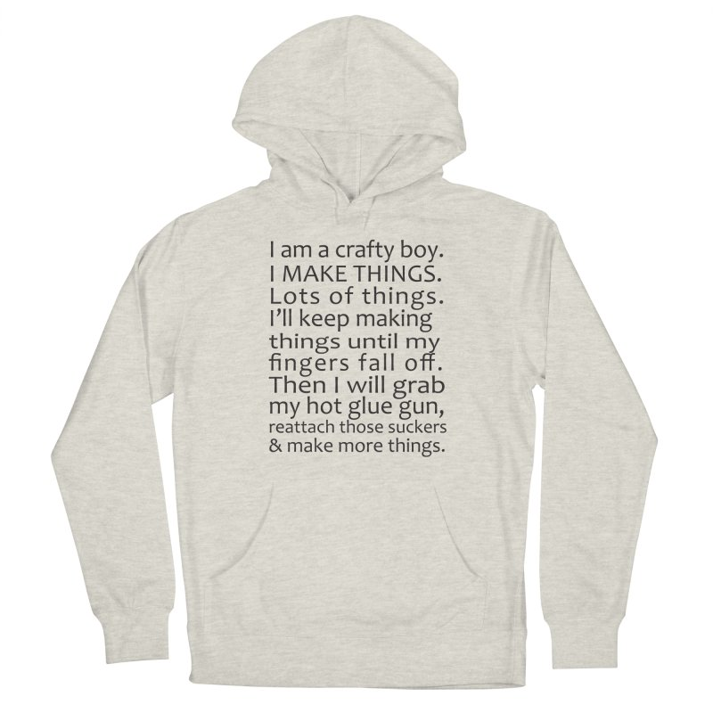 Crafty Boy Men's Pullover Hoody by AvijoDesign's Artist Shop