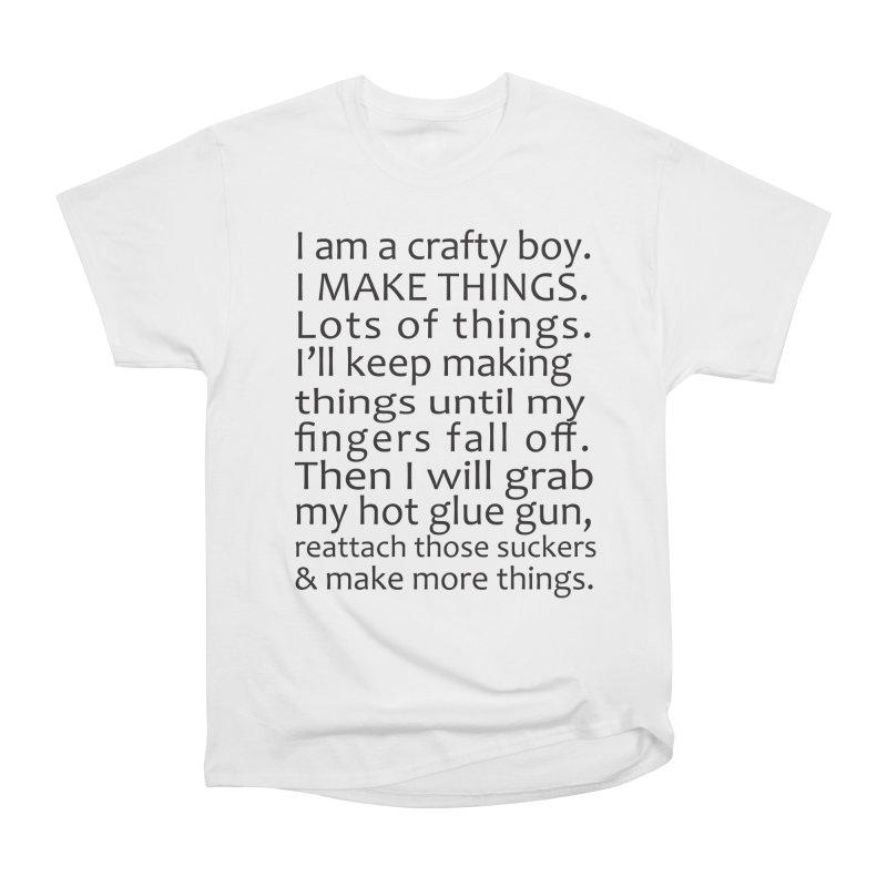 Crafty Boy Men's Heavyweight T-Shirt by AvijoDesign's Artist Shop