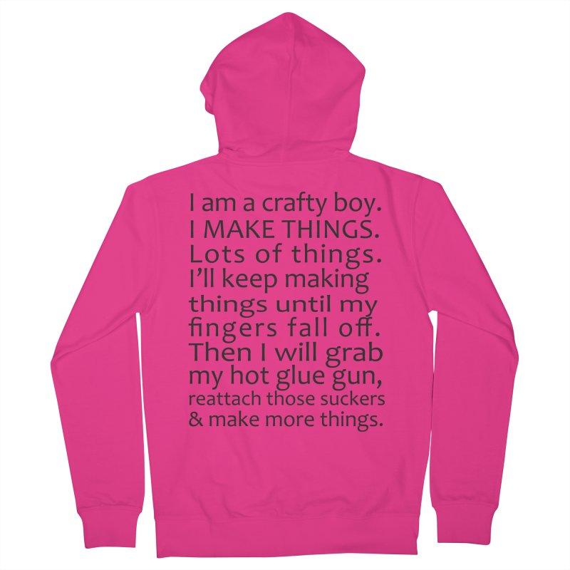 Crafty Boy Men's Zip-Up Hoody by AvijoDesign's Artist Shop