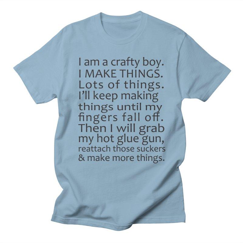Crafty Boy Men's T-Shirt by AvijoDesign's Artist Shop