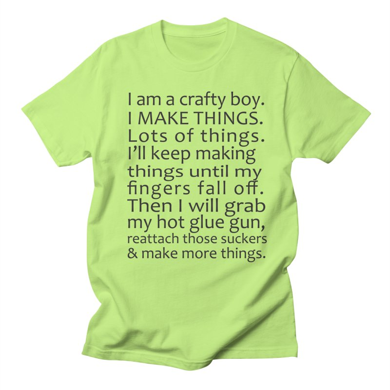 Crafty Boy Men's T-Shirt by AvijoDesign's Artist Shop