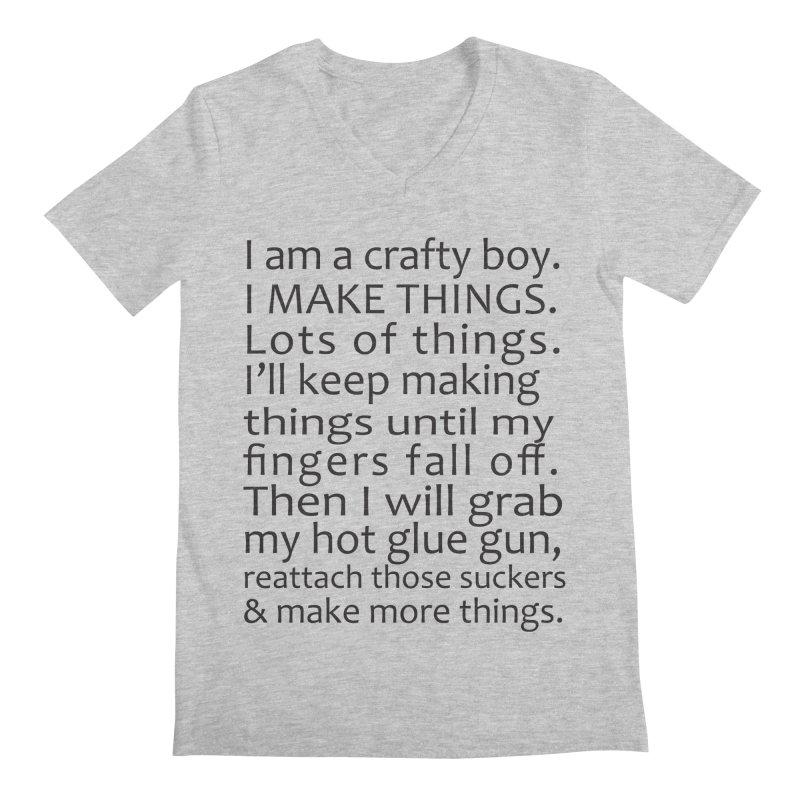 Crafty Boy Men's Regular V-Neck by AvijoDesign's Artist Shop
