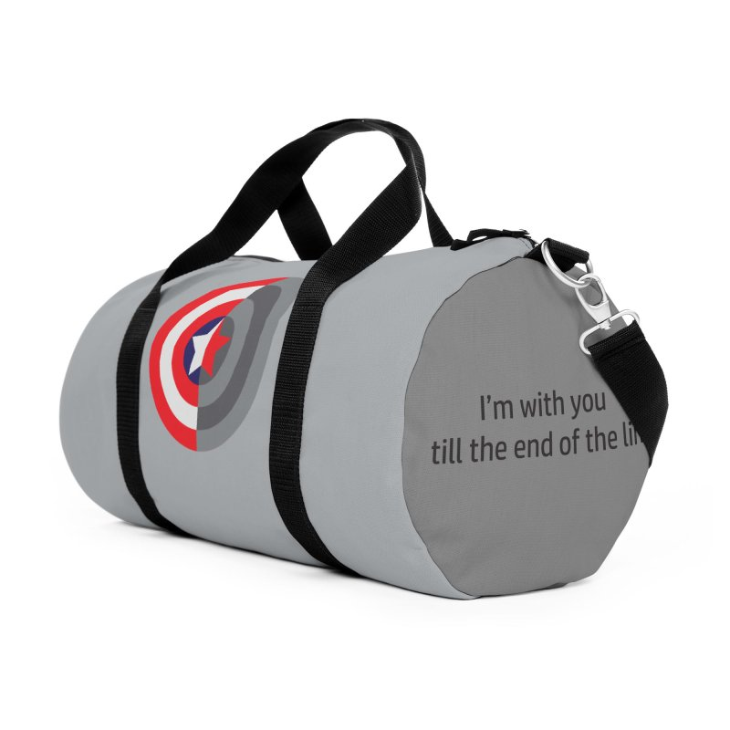 Till the end of the line Accessories Duffel Bag Bag by AvijoDesign's Artist Shop