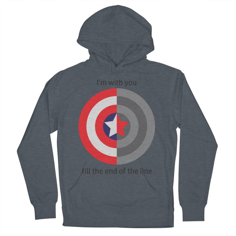 Till the end of the line Men's French Terry Pullover Hoody by AvijoDesign's Artist Shop
