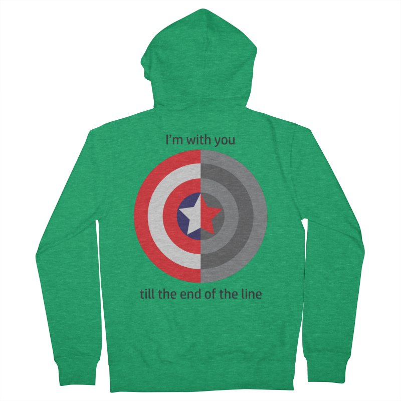 Till the end of the line Men's Zip-Up Hoody by AvijoDesign's Artist Shop