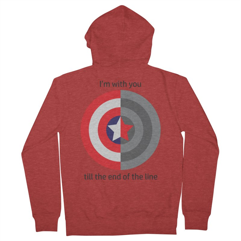 Till the end of the line Men's French Terry Zip-Up Hoody by AvijoDesign's Artist Shop