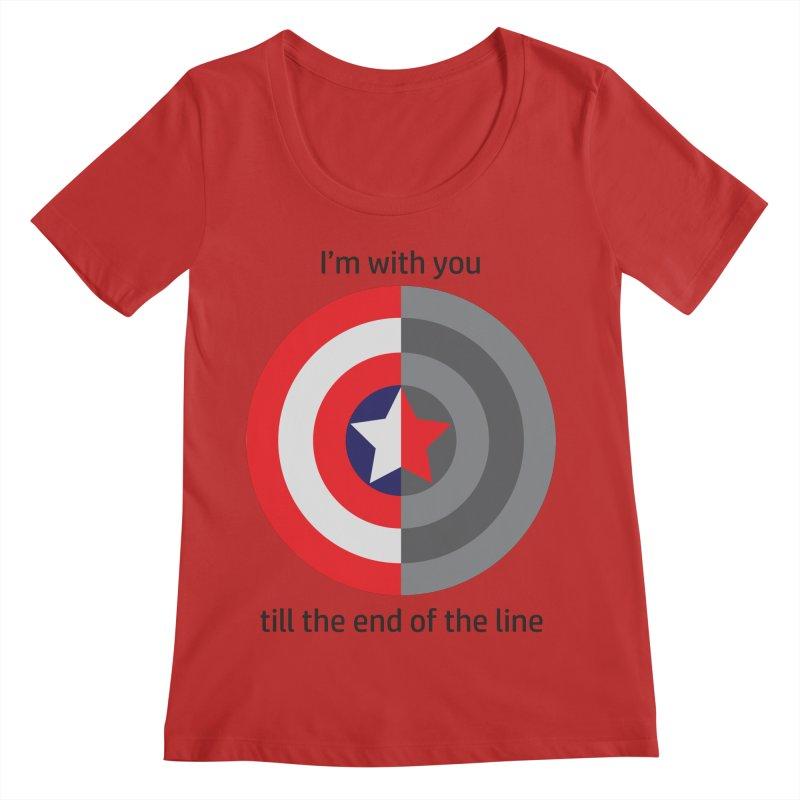Till the end of the line Women's Regular Scoop Neck by AvijoDesign's Artist Shop