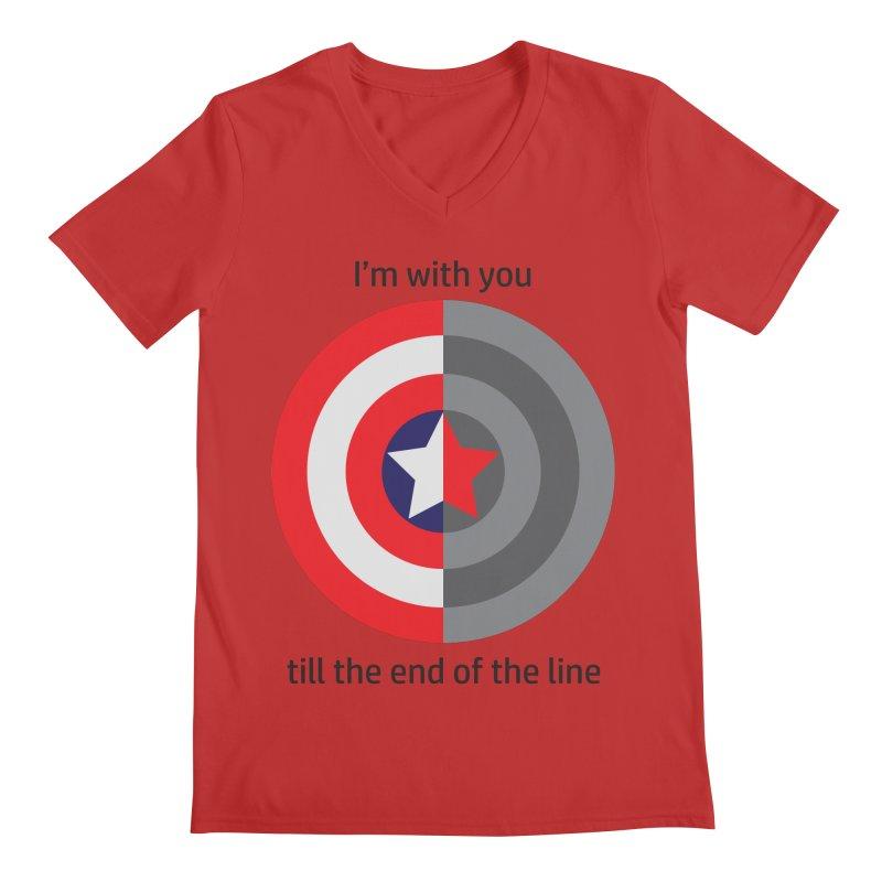 Till the end of the line Men's V-Neck by AvijoDesign's Artist Shop