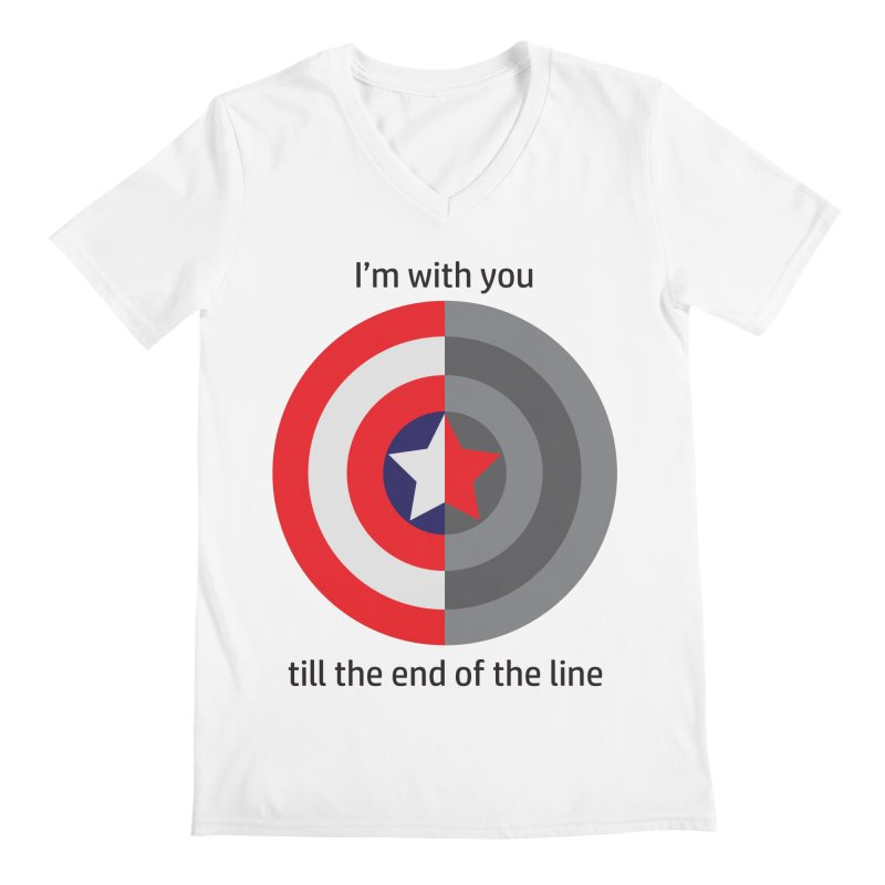 Till the end of the line Men's V-Neck by AvijoDesign's Artist Shop