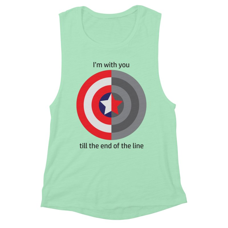 Till the end of the line Women's Muscle Tank by AvijoDesign's Artist Shop