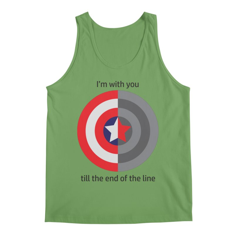 Till the end of the line Men's Tank by AvijoDesign's Artist Shop