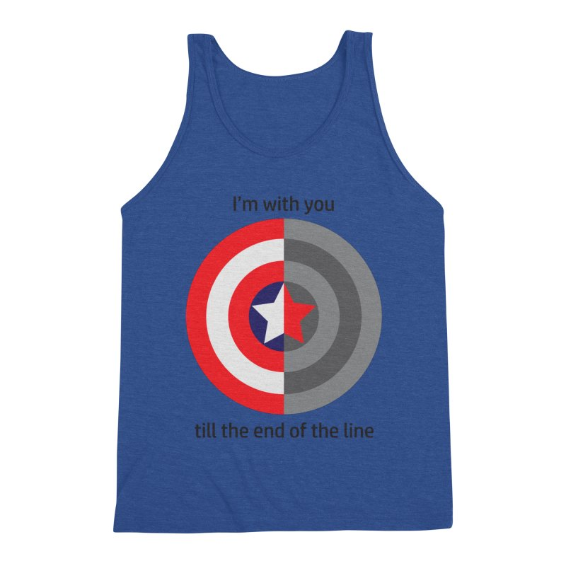 Till the end of the line Men's Triblend Tank by AvijoDesign's Artist Shop