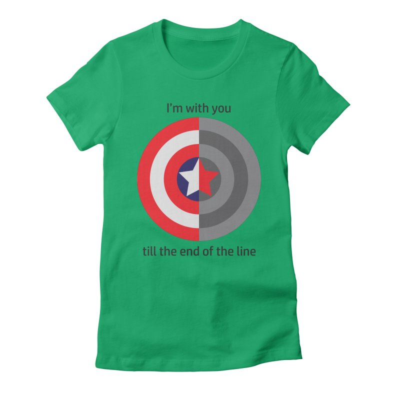 Till the end of the line Women's Fitted T-Shirt by AvijoDesign's Artist Shop