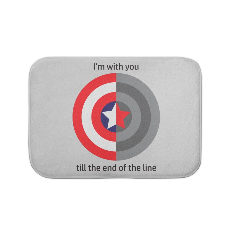 Till the end of the line Home Bath Mat by AvijoDesign's Artist Shop