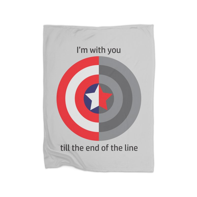 Till the end of the line Home Fleece Blanket Blanket by AvijoDesign's Artist Shop
