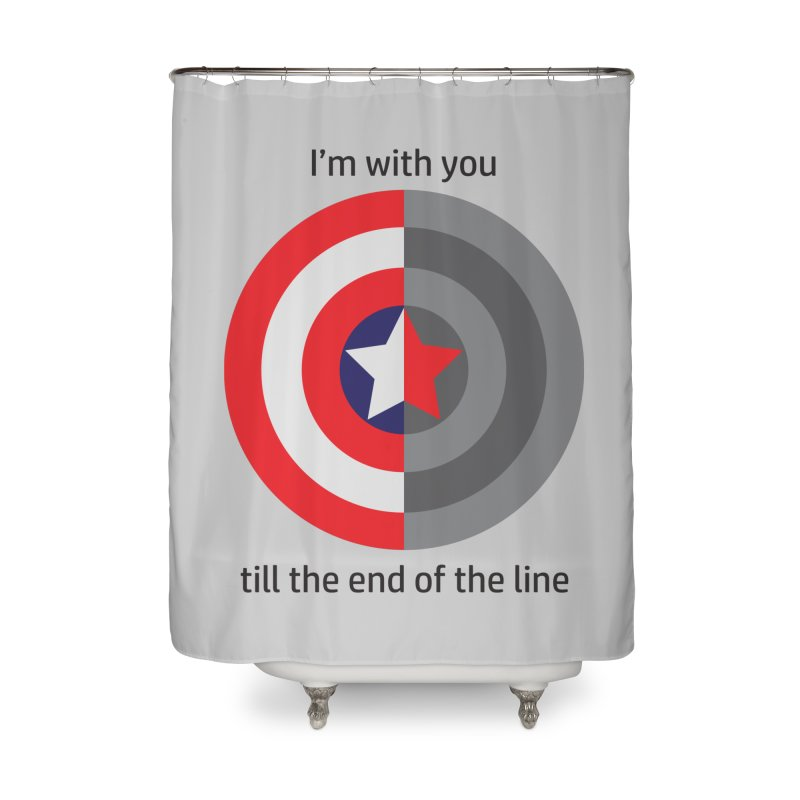 Till the end of the line Home Shower Curtain by AvijoDesign's Artist Shop