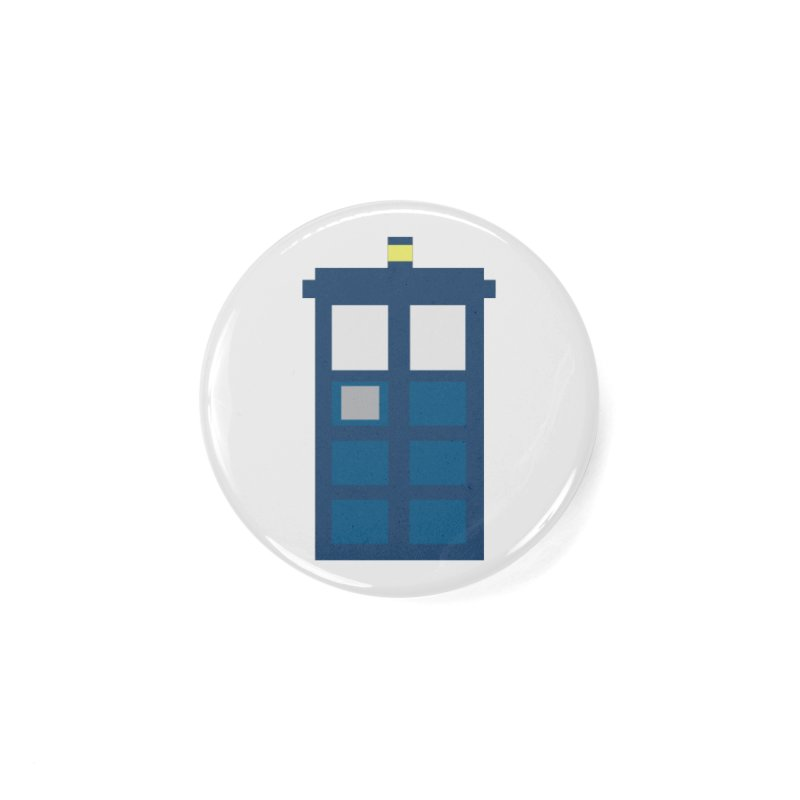 Blue Box Accessories Button by AvijoDesign's Artist Shop